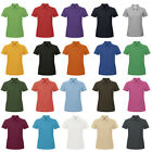 Womens B&C Collection Casual Short-sleeved Button Up Polo Shirt Tops Size XS-3XL