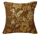 Wd38Ca Dark Brown Damask Chenille Sun Daisy Throw Cushion Cover/Pillow Case*Size