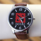 DOTA 2 Sign Men Watch Really Leather Waterproof Watch Color Brown Black