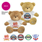 Personalised Name Fathers Day Edward Teddy Bear Presents Gifts for Dad Grandad