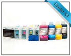 4 Refillable Cartridges + 250ml Inks Starter kit for Epson Stylus Pro 4450