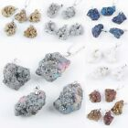 6 Colors Drusy Stone Druzy Agate Quartz Crystal Gemstone Pendant Fit Necklace