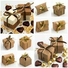 Natural DIY Wedding Party Favour Gift Boxes Shabby Chic Vintage Corrugated Kraft