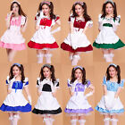 Sexy 8 Colors Costume Maid outfit Cosplay Party Full Dress Ruffle Lolita Uniform