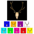 Stag Head Skull Single Canvas Wall Art Picture Print 10O
