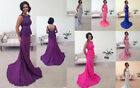 LACE BRIDESMAID WEDDING DRESS FISHTAIL EVENING PROM PARTY WEDDING BACKLES TALIA
