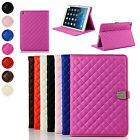 Rhombus Smart PU Stand Flip Case Cover Have  Auto Sleep Function For iPad Air 2