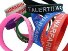 Warfarin Medicated Patient  Silicone Medical Help Wrist Bands 2 bands pack