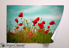 POPPIES PRINT GIANT WALL ART POSTER A0 A1 A2 A3