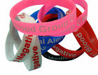 Blood Group O Negative Patient  Silicone Medical Help Wrist Bands 2 bands pack