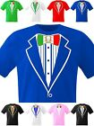 Tuxedo T Shirt Italian Flag Bow Italia Soccer Italy Prom Fancy Dress Party