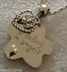charm necklace  I believe in angels flower charm + an angel or wing CN118