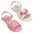 GIRLS SUMMER KIDS CHILDREN FLAT SANDALS INFANTS BEACH PARTY SHOES 11-2