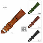 Hadley Roma MS788 Shrunken Grain Leather Padded Men's Watch Band On Hand