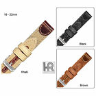 Hadley Roma MS868 Genuine Leather & Canvas Stitched Men's Watch Band