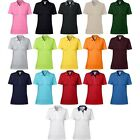 Ladies Women Anvil Double Pique Plain Cotton Polo Shirt