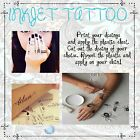 sheets Temporary Tattoo Tatoo Transfer Decal Paper, LASER Printer Only