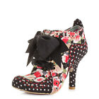 WOMENS IRREGULAR CHOICE ABIGAILS PARTY BLACK FLORAL  ANKLE BOOTS SHOES SIZE