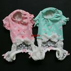 Sheer Lace Pants Dog Pajamas Buuny Jumpsuits Pet Apparel Dog Clothes XS S M L XL