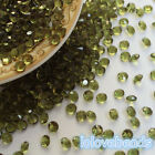 4.5mm Olive Green Acrylic Diamond Confetti Wedding Party Crystals Table Scatters