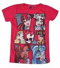 Girls Disney Frozen Monster High Short Sleeve T-Shirt Top Age 6,7,8,9,10,12 Yrs