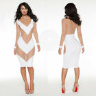 Sexy Womens Backless Bodycon Long Sleeve Party Evening Night Club COCKTAIL Dress