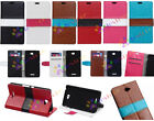 Manual Mosaic Luxury Flip Wallet Card Leather Case F Nokia series N535 N640 N930