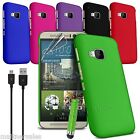 Premium Thin Hard Cover Case for HTC One M7 M8 M9 X XL FREE USB CABLE
