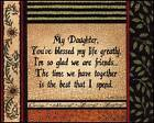 """ART PRINT, FRAMED OR PLAQUE - """"MY DAUGHTER"""" BY LINDA SPIVEY - LS661"""