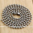 Stainless Steel Bead Ball Chain Necklace Solid 2MM MENS WOMENS Matching Link 1PC