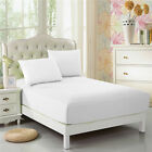 CC&DD Fitted Sheet 100% Microfiber Luxury Super Silky Soft Deep Pockets White  image