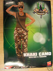 Camouflage Trousers Armyr Ladies Fancy Dress Hen Halloween Party Costume Outfit
