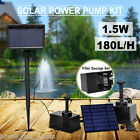 Solar Panel Powered Fountain Garden Pool Pond Submersible Water Pump Features