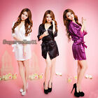 New 1* Women Sexy Satin Lace Robe Sleepwear Lingerie Nightdress G-string Pajamas