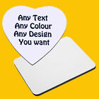 Design Your Own Personalised / Custom Fabric Topped Mousemat - 3 Sizes Available