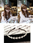 Women girl fashion Hair Band Headband Metal Chain Jewelry Flower pearl H1010