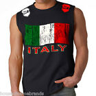 Italy Flag Stryker Muscle Sleeveless T Shirt Top Soccer Cup Boxing Gym UFC MMA w