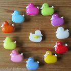 7 - Novelty Buttons - Duck - 13 x 14mm - Baby/Doll/Kids - Knitting/Sewing/Cards