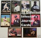 FRANK THOMAS _ 10 Different $1.00 Investor's Journal Cards _10+ Mail FREE USA