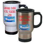 Custom Personalised Thermos Travel Mug - Design Your Own available in 2 Colours!