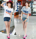 New Arrival Summer Women Ladys Floral Blouse Casual Loose Cotton T Shirt Tops