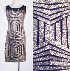 1920's Vintage Dress Gatsby Party Clubwear Gold Sequin Art Nouveau Deco  AF 3285