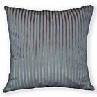 Ng21a Turquoise Blue Brown Stripe Linen Cushion Cover/Pillow Case Custom size