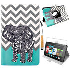 360° Rotating Flip Stand Case Cover Protector for Amazon Kindle Fire HD 6 2014