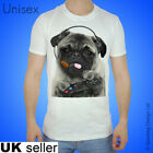 Original Gaming Pug T-shirt Video Game Tshirt Funny Pugs Top Cute Puppy Gamer T