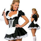 Sexy Woman Girls Maid Halloween Xmas Lolita Outfit Cosplay Fancy Dress Costume