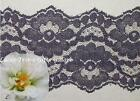 "2 Yd Lace Trim Purple Corded 3-3/8"" Embroidered O71BV Added Items Ship No Charge"