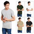 Mens Longer Fit Side Zip T-Shirt Brave Soul Falcon New Short Sleeve Crew Tee Top