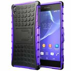 Sony Xperia Z2 Dual Layer Shockproof Cover Hybrid Rugged Case with Kickstand
