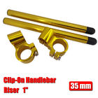 "CNC 35mm Raiser 1""Rised Clip-Ons Handlebars Universal Fit 35mm Motorcycle Forks"